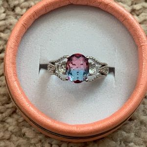 Two-toned Oval Cut Ring